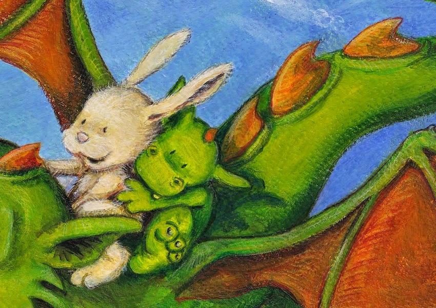 Kinderbuchillustration, kleiner Drache, little dragon