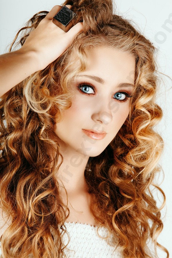 Curly Strawberry Blonde Hair Color