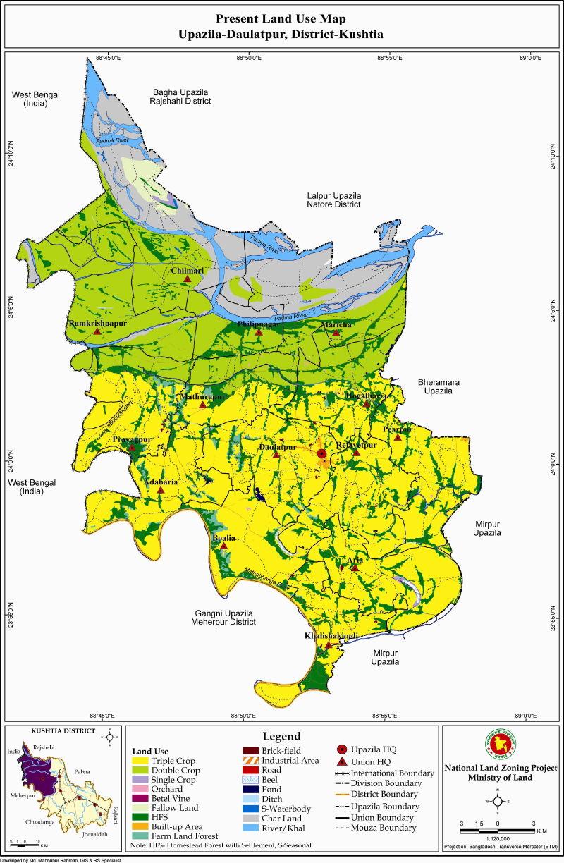 Daulatpur Upazila Mouza Map Kushtia District Bangladesh