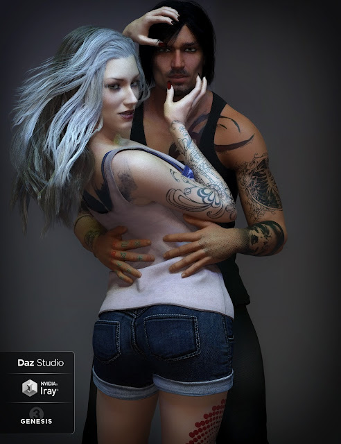 LIE Tattoo Presets Two Bundle for Genesis 3 and 8