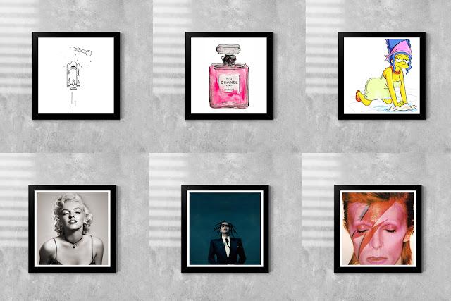 poster os simpsons, poster rihanna, poster david, poster para decorar