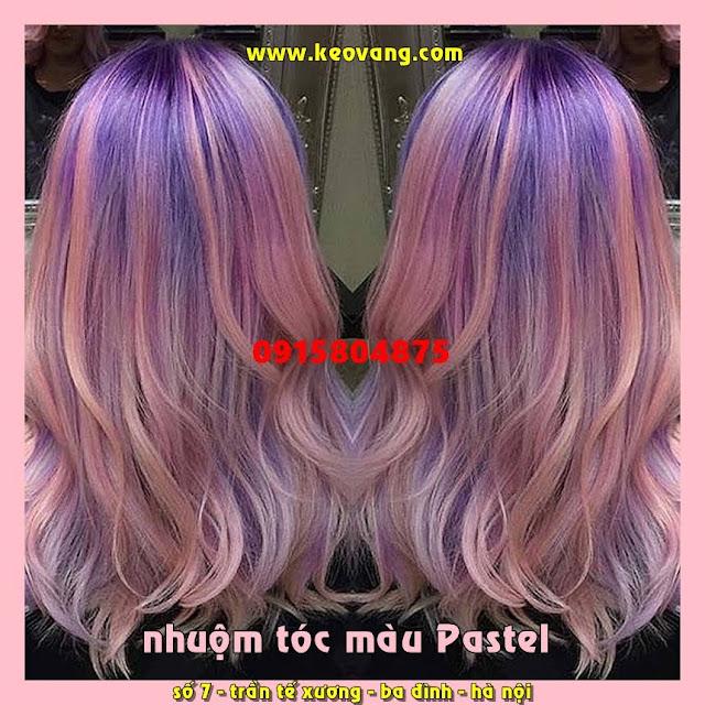 Nhuộm tóc màu phai PASTEL xu hướng thịnh hành trong tương lai gần