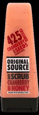 Original Source Cranberry and Honey Daily Scrub Product Review