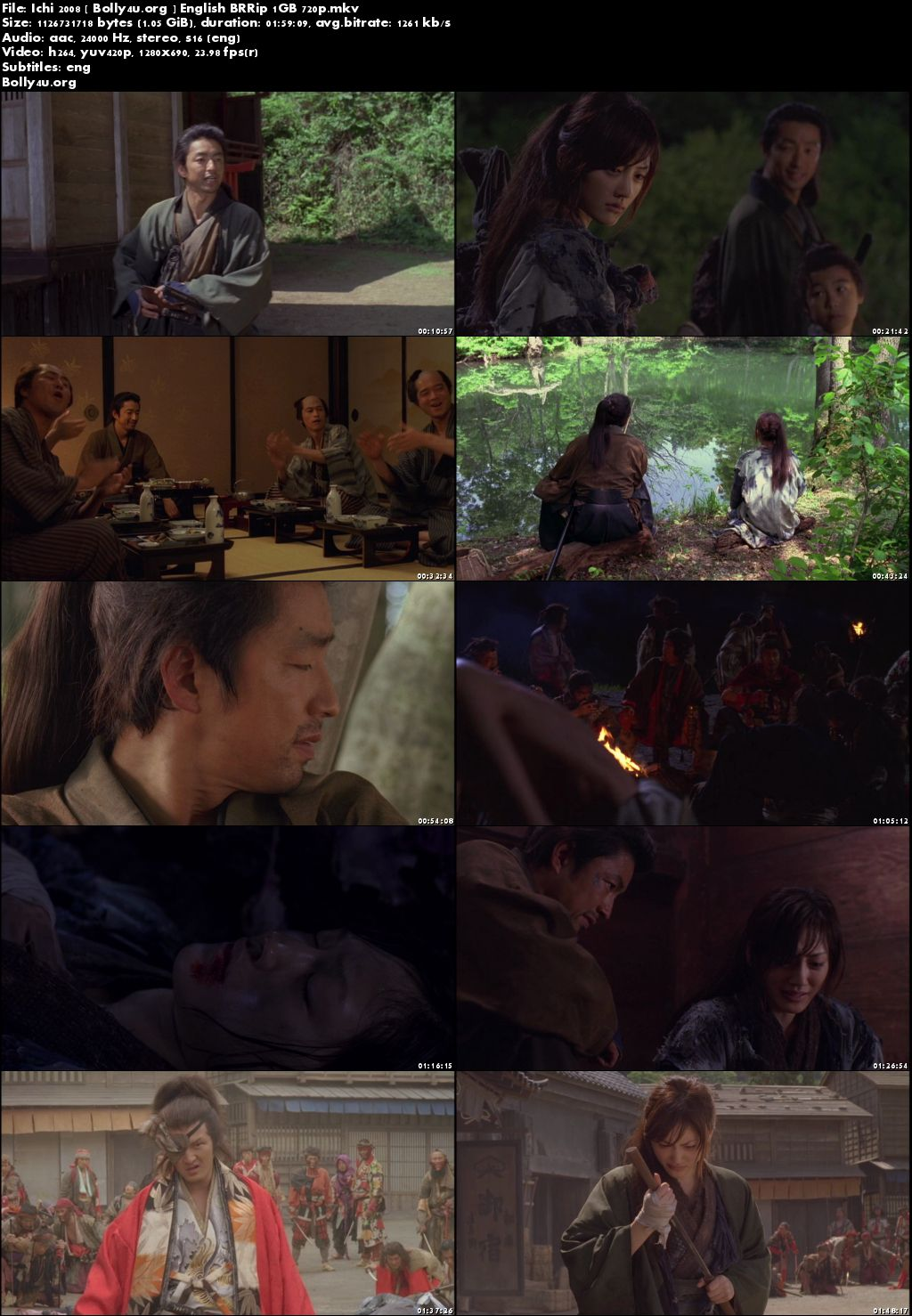 Ichi 2008 BluRay 1GB English Movie 720p ESub Download