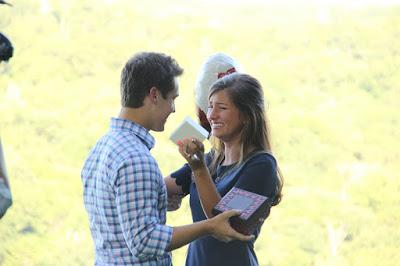 Evan Stewart and Carlin Bates courtship
