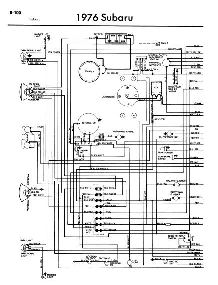 repair-manuals: Subaru 1976 Wiring Diagrams