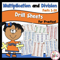 Fact Drills using Multiplication and Division