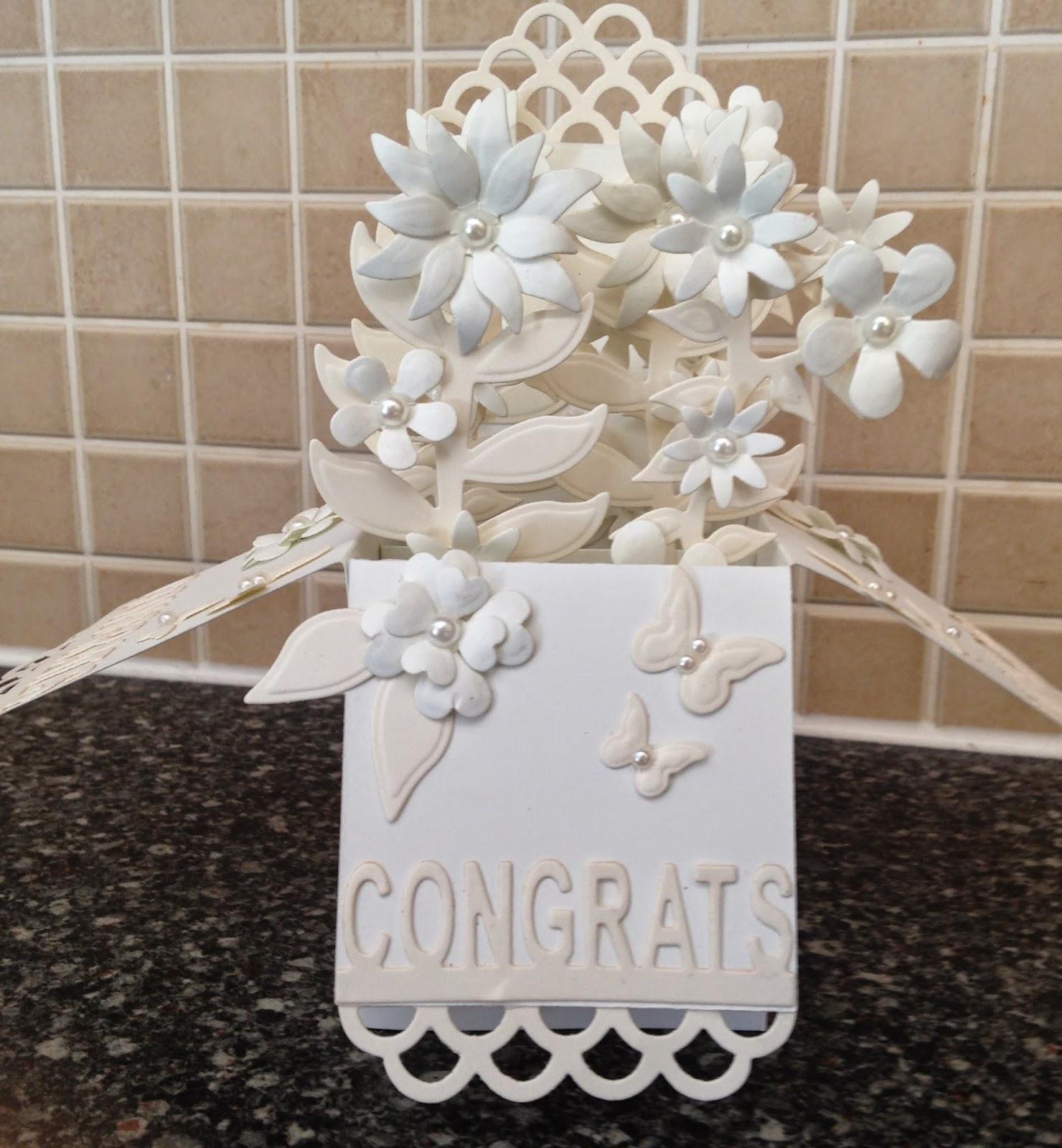 inky finger zone wedding style pop up box