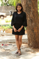 Actress Hebah Patel Stills in Black Mini Dress at Angel Movie Teaser Launch  0061.JPG