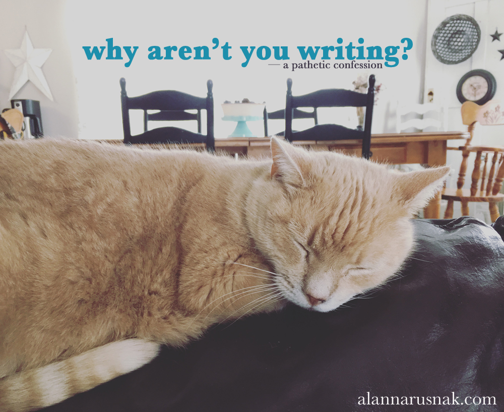 why aren't you writing? you should be writing