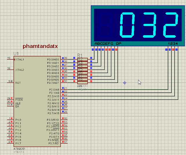 [8051 TUTORIAL] BÀI 12 Chương trình hiển thị LED 7 đoạn từ 000 đến 999