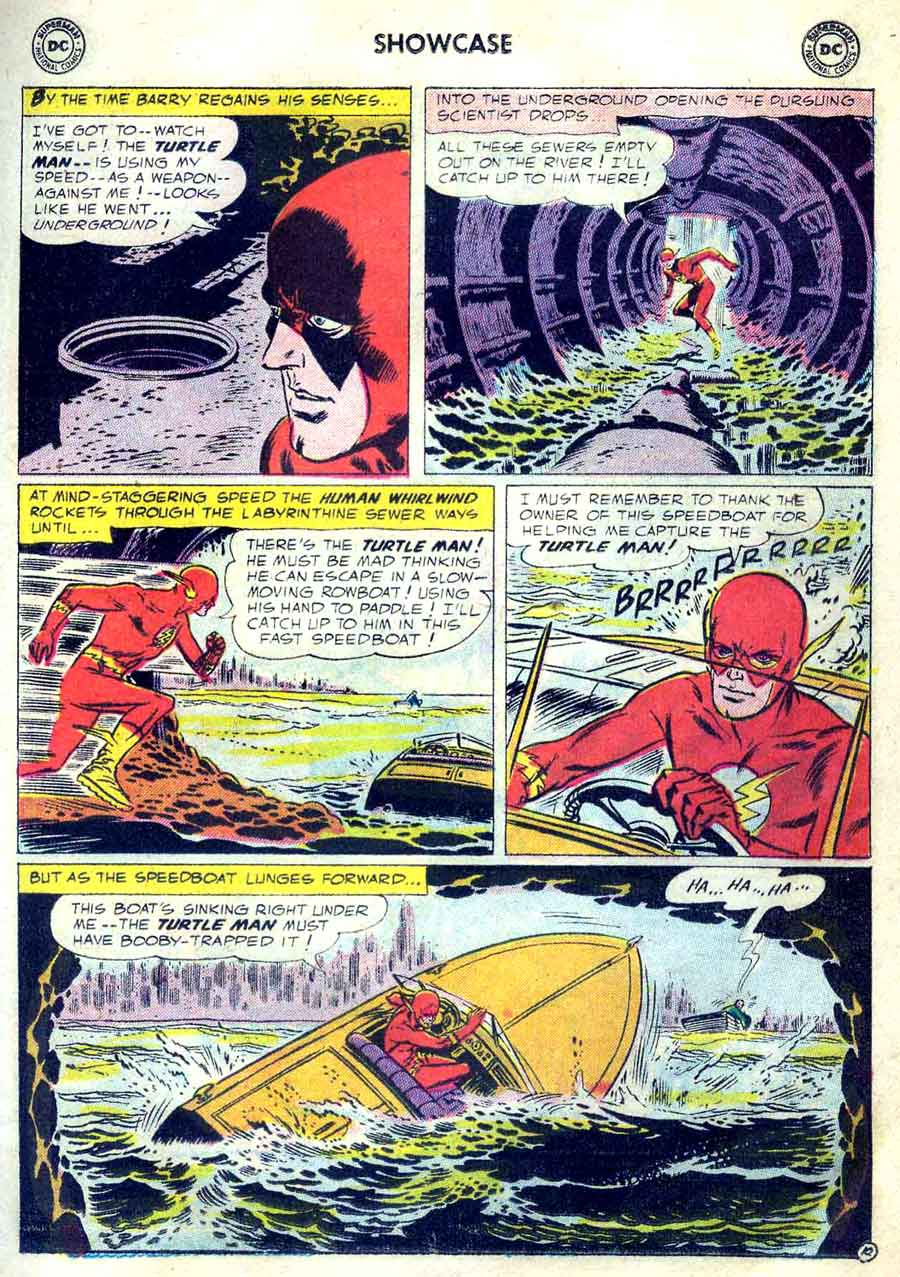 Showcase v1 #4 dc comic book page art by Joe Kubert (Flash)