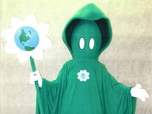 The Green Reaper mascot the Department of Energy created is not merely ludicrous, it s evil, because the idea was to scare children.