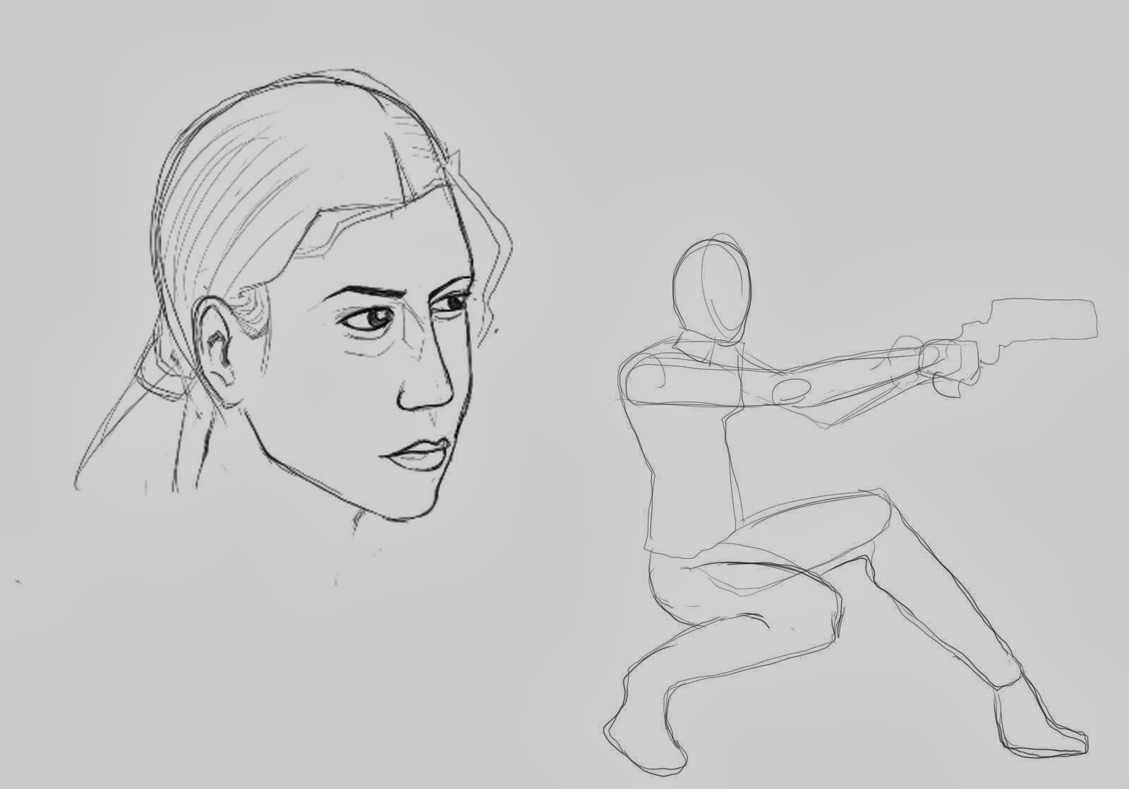 207c29a7a87b1 Pose and face sketches I made using this photo as a reference