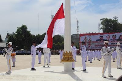 Upacara Peringatan HUT RI Ke-72 di Kota Tanjungbalai Berlangsung Khitmad dan Tertib