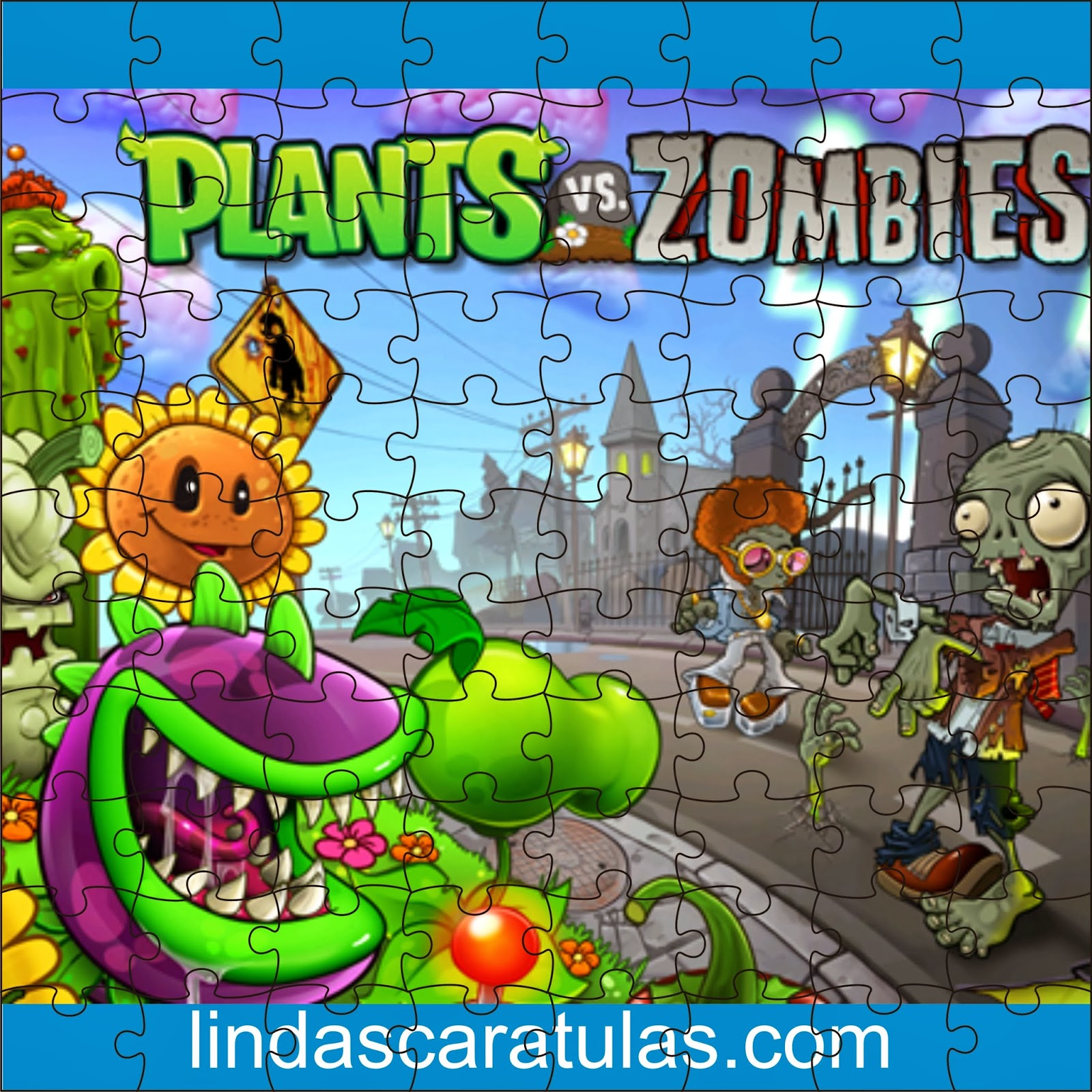 Caratulas para word rompecabezas o puzzle plantas vs zombies for Fotos de la casa de plantas vs zombies