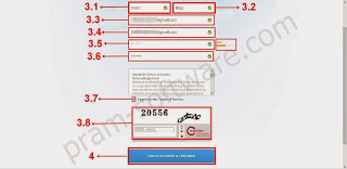 Mengisi Data di Form Pendaftaran di Mediafire