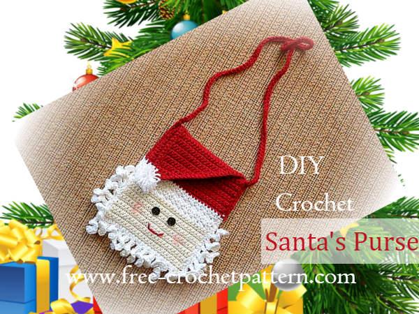 Santas Purse For Little Girl Crochet Pattern Free Crochet Patterns