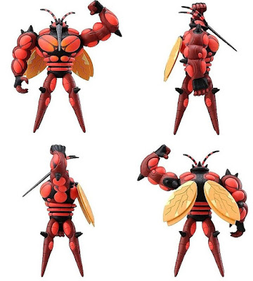 Buzzwole figure Takara Tomy Monster Collection MONCOLLE EX hyper size EHP_15 front  back sides