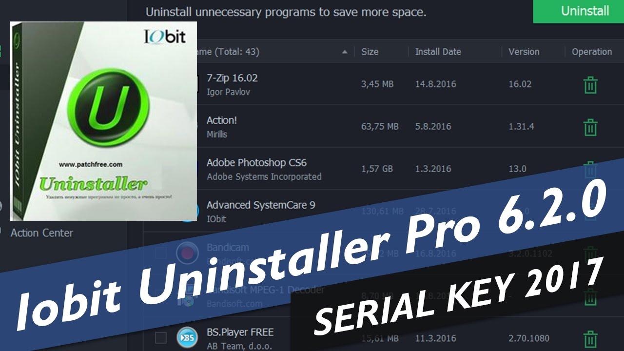 iobit uninstaller 6.2 key 2018