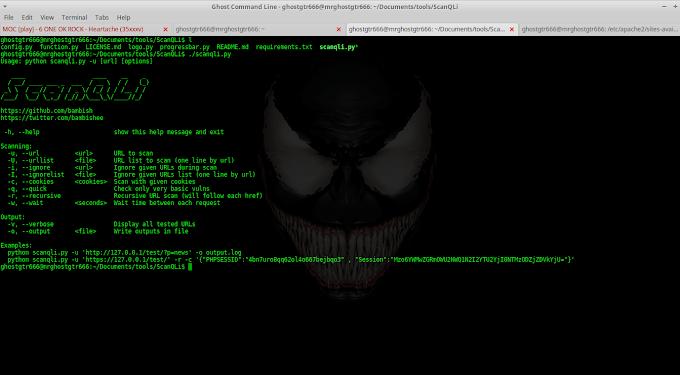 ScanQLi - SQLi scanner to detect SQL vulns tested BackBox 5.3 GNU/Linux