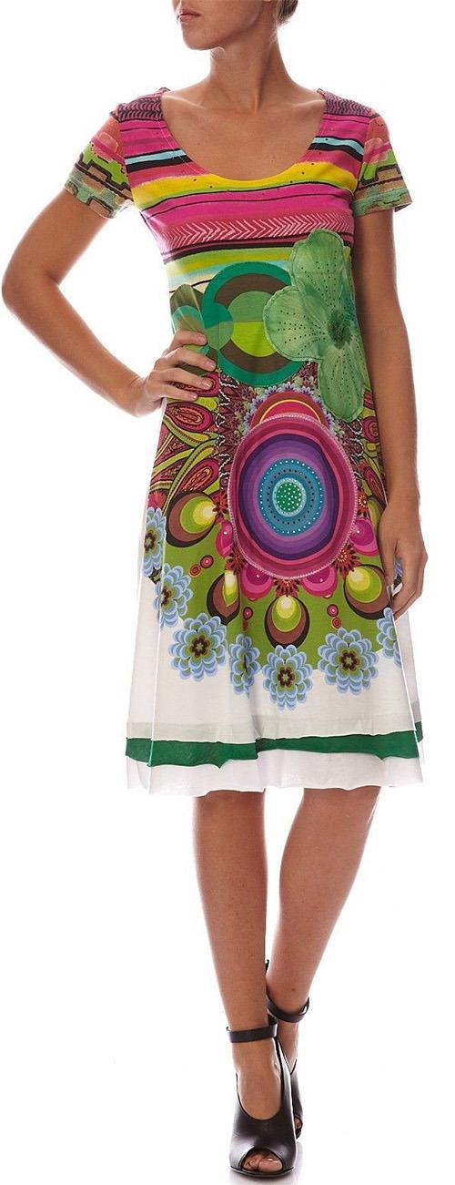 Robe mi-longue Desigual Olivia multicolore