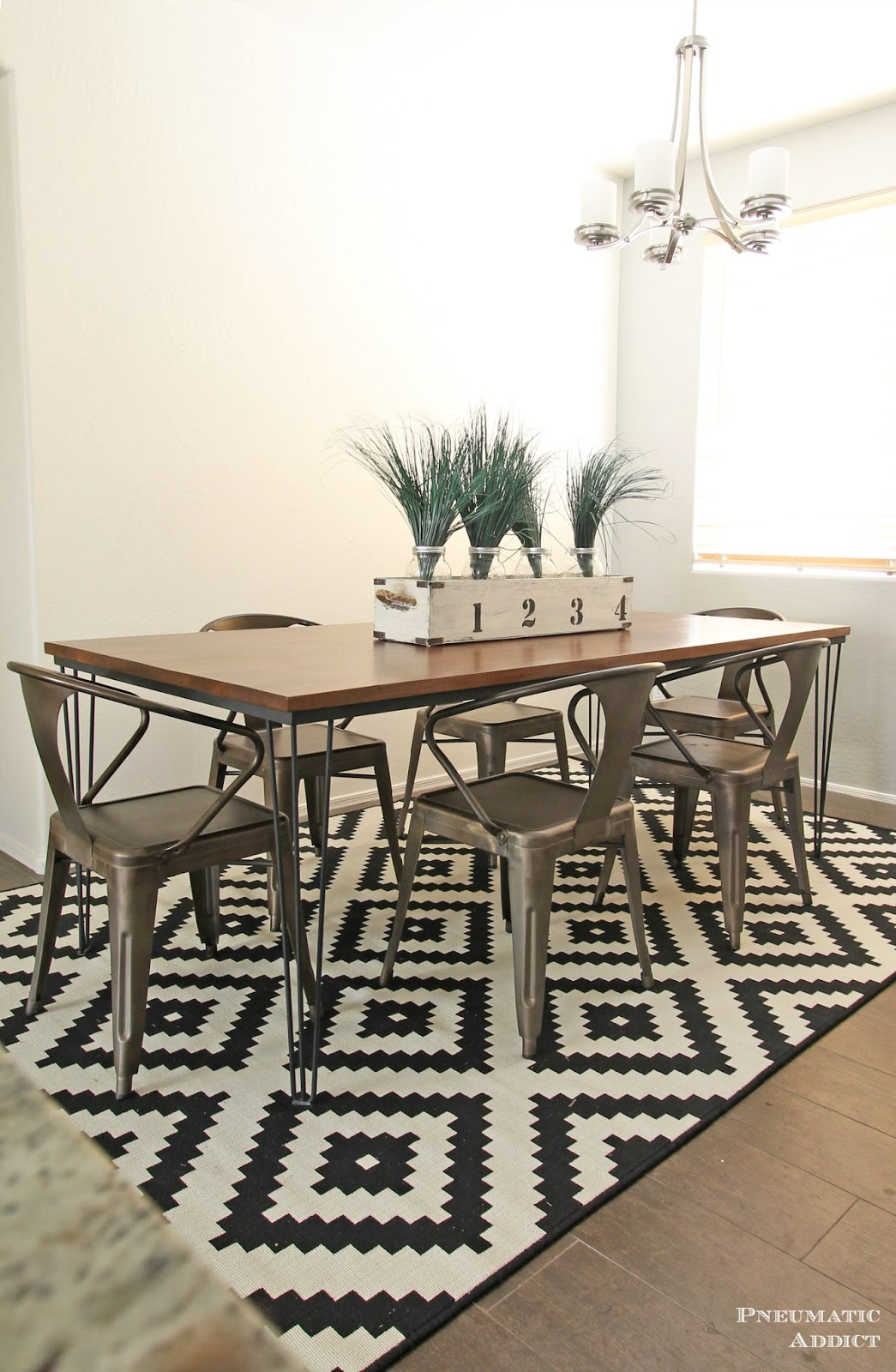 Large Hairpin Dining Table Pneumatic Addict