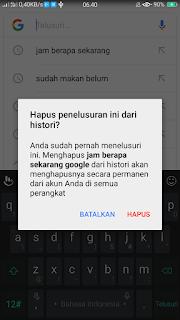 Cara menghapus History Google secara manual