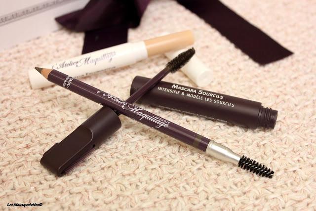 Le Crayon à Sourcils et le Mascara à Sourcils - L'Atelier Maquillage Paris - Blog beauté Les Mousquetettes©