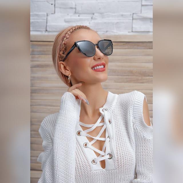 Γυναικεία μαύρα γυαλιά WANDA