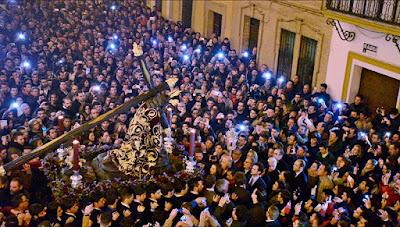 Horario e Itinerario del Via Crucis del Santísimo Cristo de las Tres Caídas. Sevilla 25 de Febrero del 2019