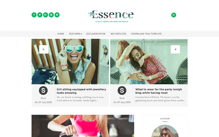The Essence Free Blogger Template