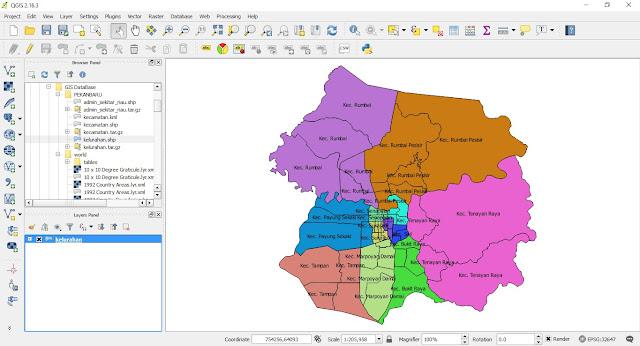 Membuat Peta Composser-Legenda menggunakan QGIS