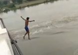 Two friends jumped in Yamuna in Faridabad, one left flown, released exploration, video of the incident viral