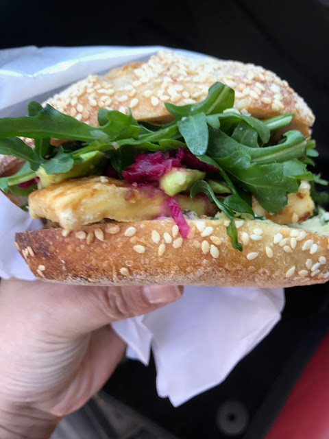 Friends of the Earth Melbourne Food Co-op and Cafe, Collingwood, tofu burger