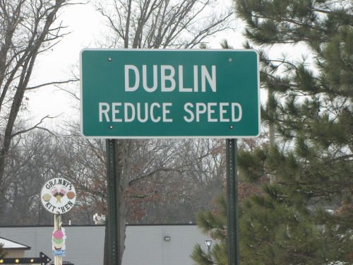 Dublin Michigan sign