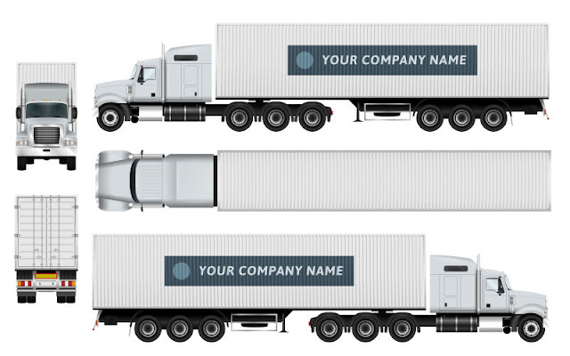 Tractor-trailer Stock Vector free
