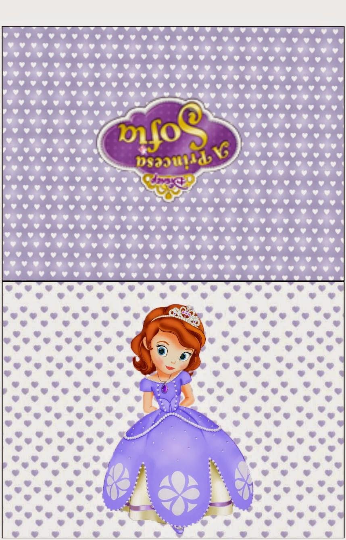Etiquetas de Princesa Sofía para imprimir gratis.