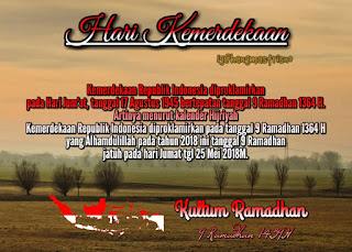 Kultum Ramadhan yang ke 10 hari kemerdekaan