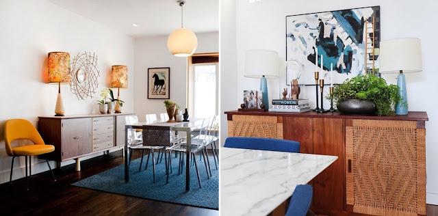 buffet e aparador Apartament Therapy /  Emily Henderson