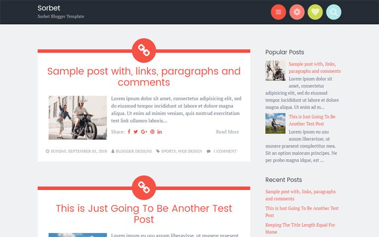 Sorbet Free Blogger Template