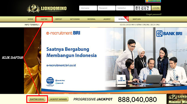 Daftar Situs Agen QQ Bank BRI Online 24 Jam