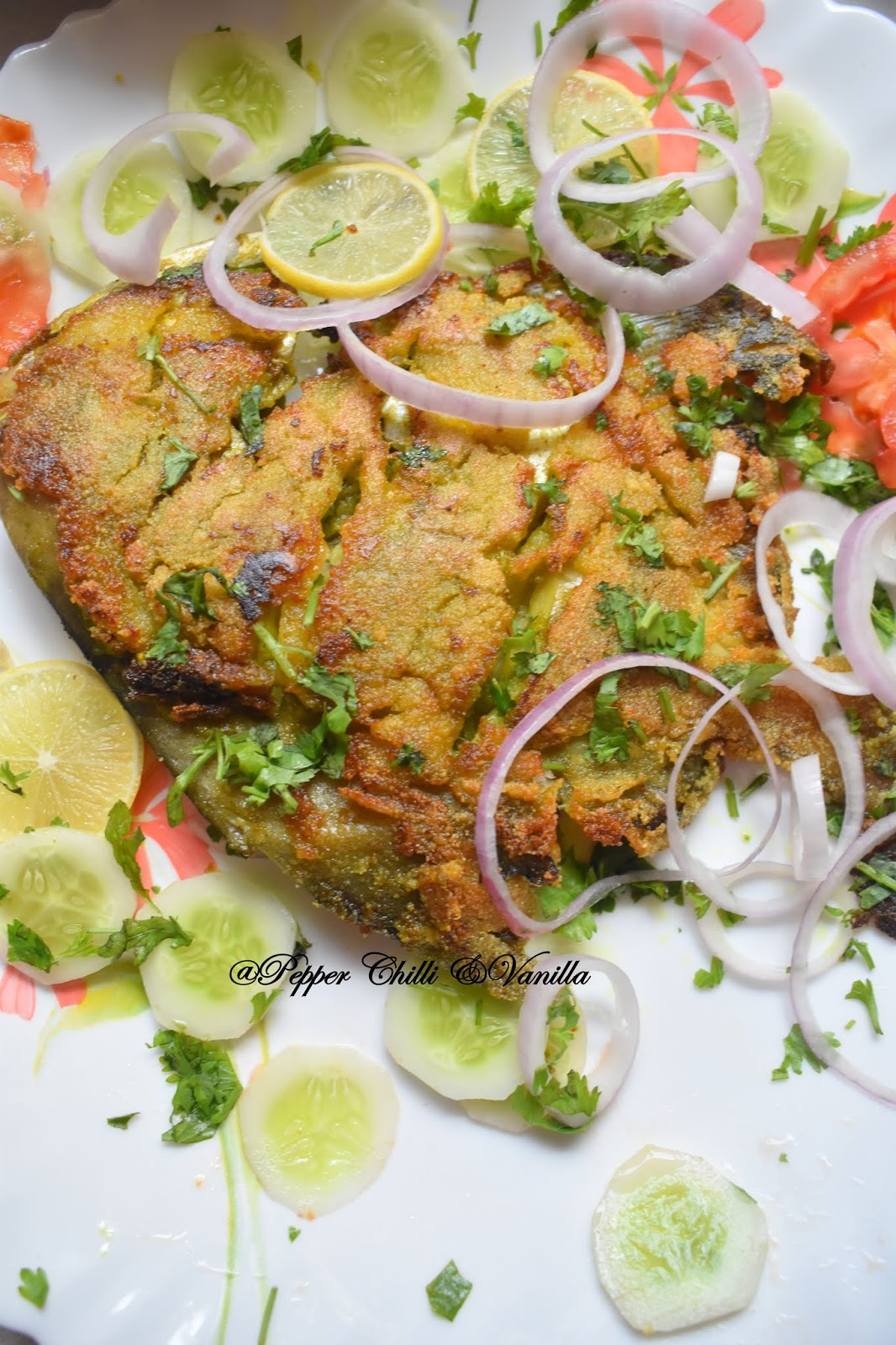 how to fry pomfret/paplet