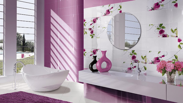 Toilet tiles design images of Presuntuosa series