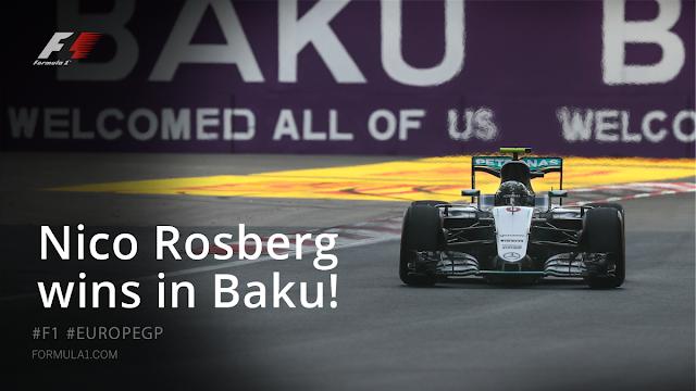 Hasil Balapan GP F1 Baku, Azerbaijan : Rosberg Terdepan, Rio 18