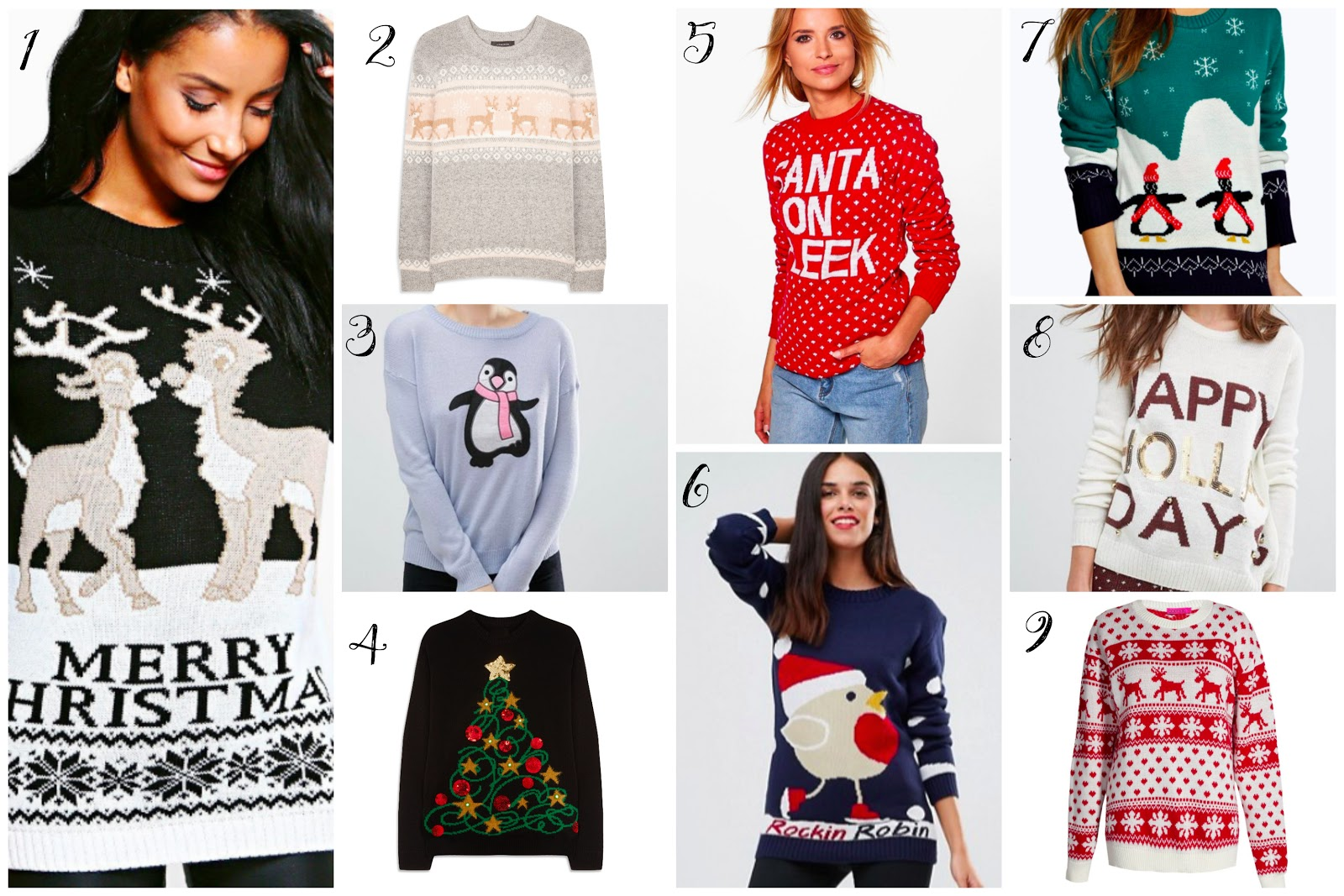 Christmas Jumpers from Asos, Primark & Boohoo