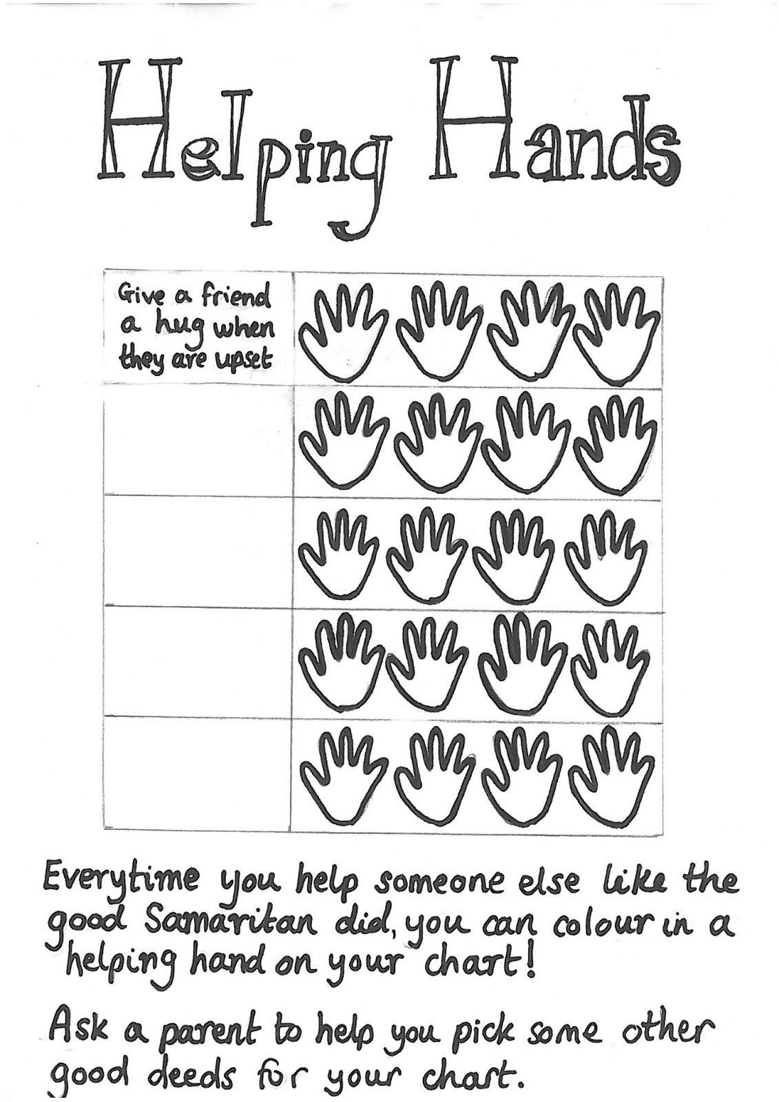 helping hands coloring page - flame creative children 39 s ministry good samaritan