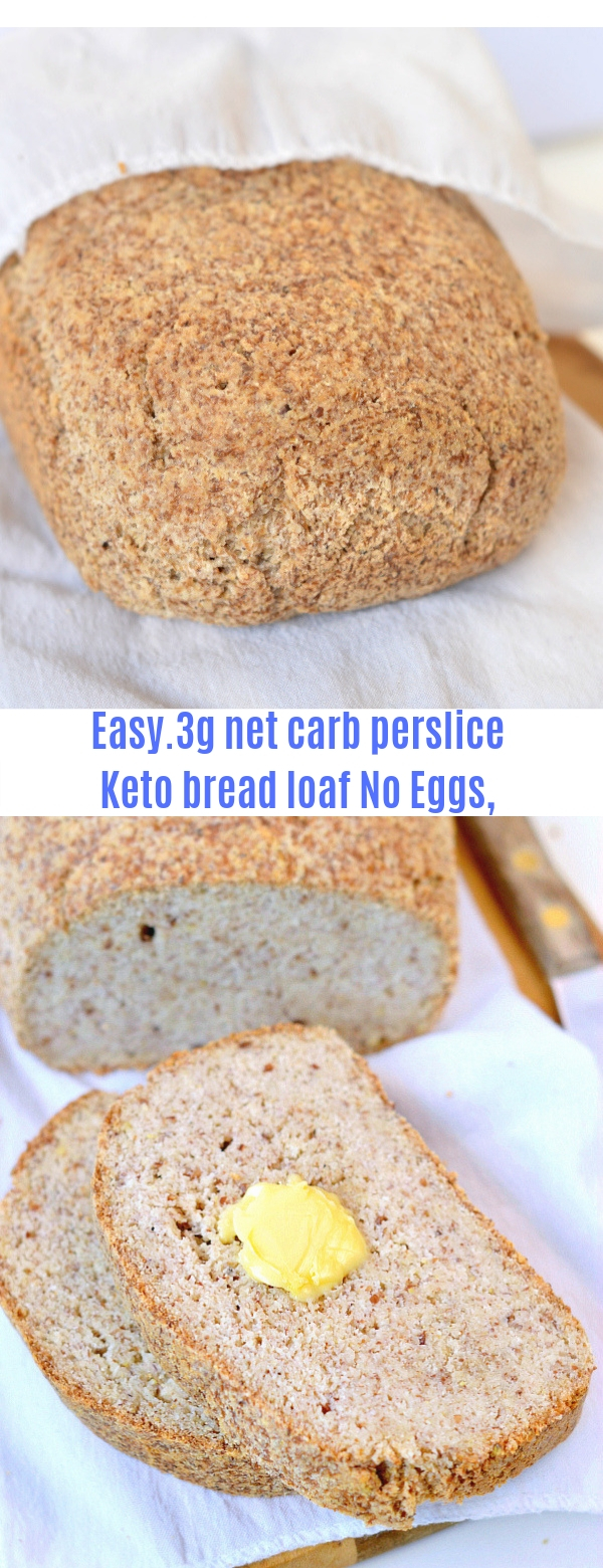 Keto bread loaf No Eggs, Low Carb + Vegan