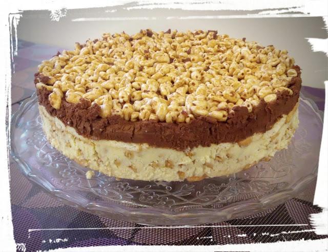 ciasto jak batonik kinder country smietana biala czekolada kangusy