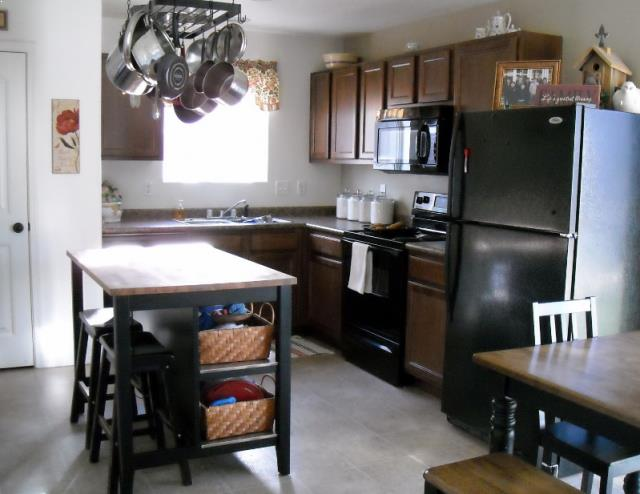 √√ Stenstorp KITCHEN ISLAND Black-Brown Oak | Kitchen ...
